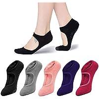 Yoga Socks Non Slip for Women Ladies Girls Non Skid Socks with Grips Pilates Ballet Barre Dance Socks