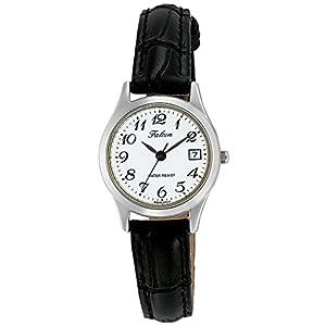 [シチズン キューアンドキュー]CITIZEN Q&Q 腕時計 Falcon ファルコン アナログ 革ベルト 日付 表示 ホワイト D009-304 レディース