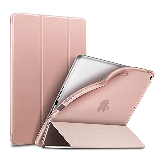 ESR iPad Mini 5 2019 ケース 薄型 PU レザー スマート カバー ソフト TPU 背面 ケース キズ防止 三つ折り ...