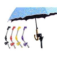 El Viento ベビーカー用 傘立て 傘スタンド 雨傘 日傘 自転車 車いす シルバーカーにも 雨 紫外線 から守ります!! 【工具・説明書付き】 (ブラック)
