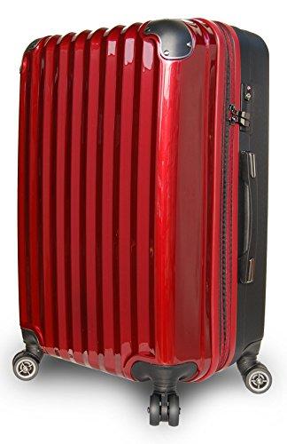 スーツケース 軽量 拡張 ダブルキャスター 8輪 LM L 中型 大型 キャリーケース キャリーバッグ 3泊 4泊 5泊 6泊 7泊 8泊 9泊 10泊 (LM 64L~75L, ワイン/BK)