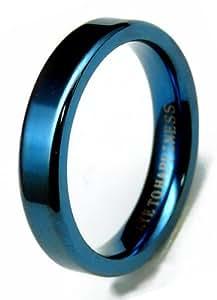 [スワンユニオン] swanunion 「幸せの鍵」刻印 全4色[新素材ステンレスPVD]指輪 ペア ピンキーリング 青 ブルー[chsr18 3号]swan01