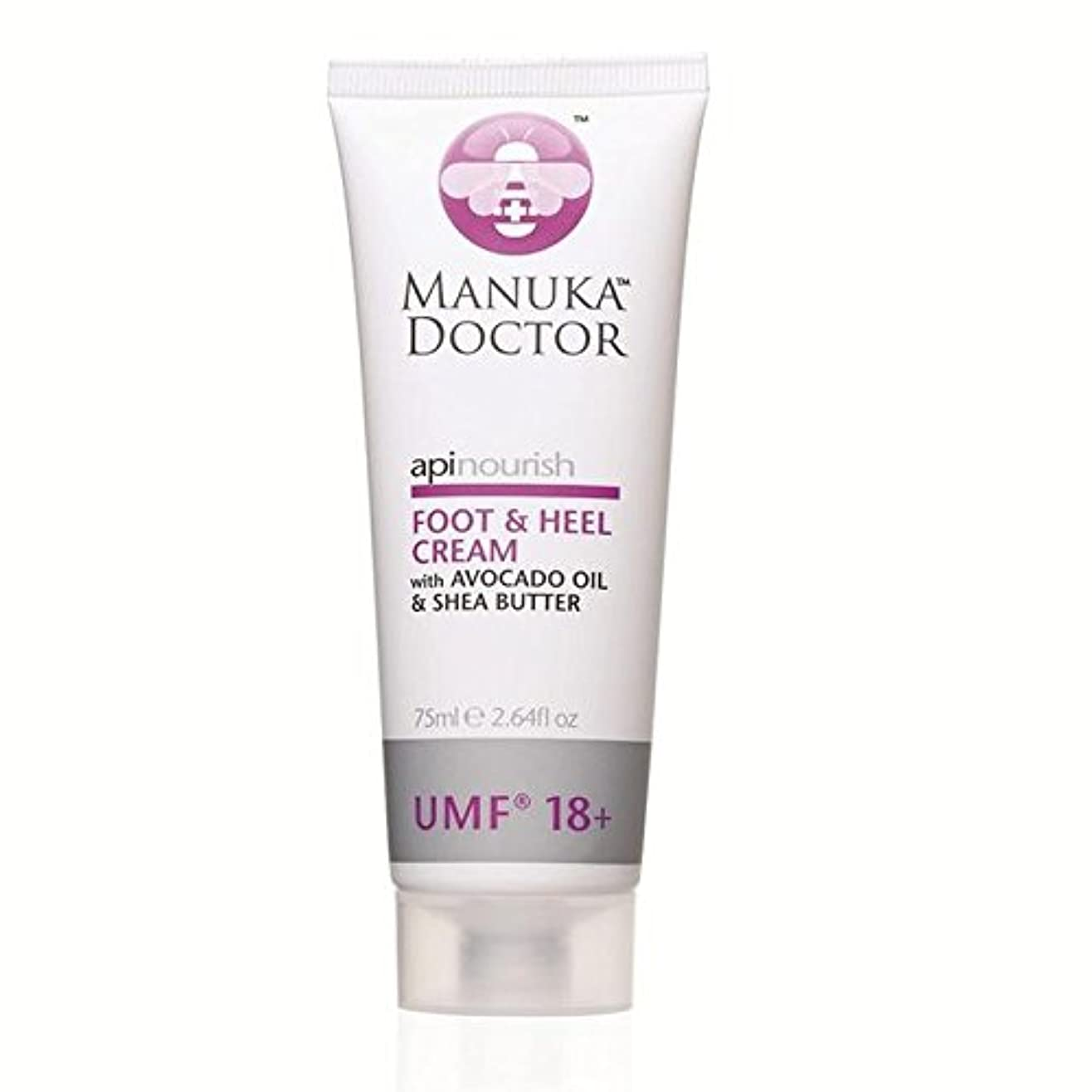 Manuka Doctor Api Nourish Foot & Heel Cream 75ml - マヌカドクター足&かかとクリーム75ミリリットルを養います [並行輸入品]