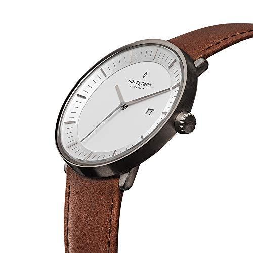 [ノードグリーン]Nordgreen 腕時計 ユニセックス ウォッチ Philosopher ガンメタル 40mm 北欧 デザイナーウ...