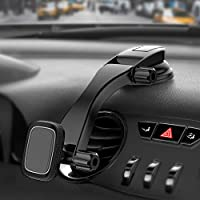 Miracase マグネット式車載ホルダー 超強力磁気 4-10.5インチ タブレット スマホ全機種に適用 調整可能 強力ゲル吸盤 一年間保証期間