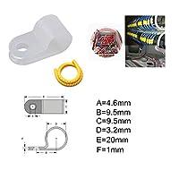 ACHICOO 50個/セット 1/8インチ ロープライト Rスタイル 取り付けクリップ ステンレス ネジ ナンバーチューブ ケーブル マーカー付き