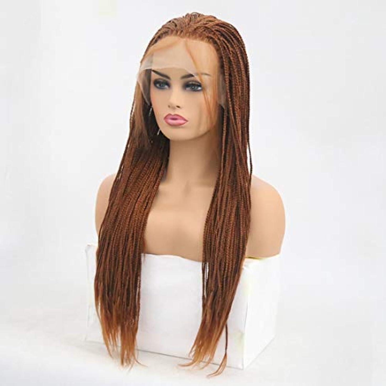 貢献するキャッチ抑制Kerwinner 女性のための前髪の髪のかつらで絹のような長いストレート黒かつら耐熱合成かつら (Size : 20 inches)
