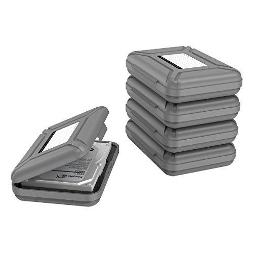 Yottamaster 3.5インチ ポータブル ハードディスクケース 保護 収納ケース HDD保管ケース 堅固で耐圧 5点セ...