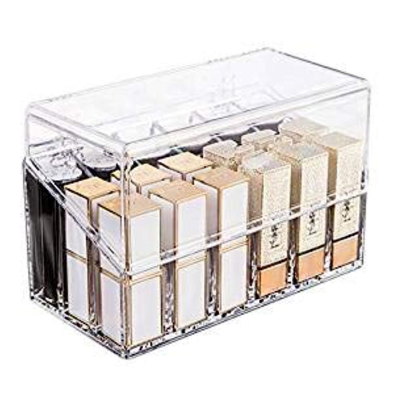 保持するスカートノベルティ口紅収納ボックス 18本 アクリル リップスティック収納ケース コスメ小物用品 化粧品収納ケース 透明