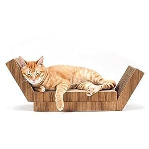 KATRIS Lynks 組み立て式 猫の爪とぎ - 2 パック 本チーク材カバー ペットの運動、ストレス解消に
