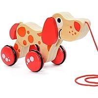Yeawooh 幼児用ウォーカー 木製 プッシュ&プル 幼児用玩具 座って立つ スタンド&ロール MD4JN007
