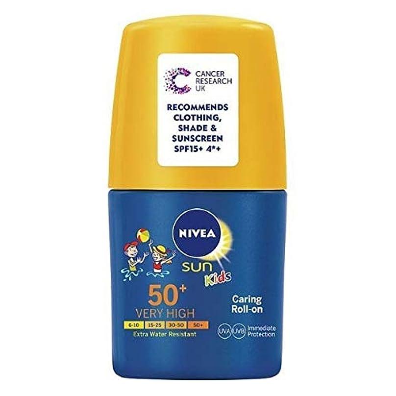 素晴らしい幻想的厳[Nivea ] ニベア日の子供の日焼け止めクリームロールオンSpf 30、50ミリリットル - NIVEA SUN Kids Suncream Roll-On SPF 30, 50ml [並行輸入品]
