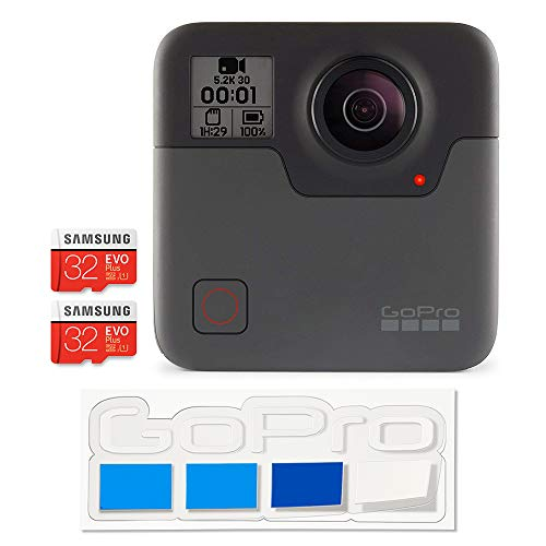 【国内正規品】 GoPro Fusion 360° カメラ MicroSDカード x 2枚 フルセット + GoPro公式限定ステッカー付属 CHDHZ-103-FW2