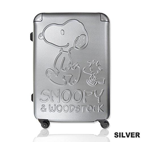 【SNOOPY】スヌーピーTSAロック搭載スーツケース ハードフレーム/ハードキャリー/60L (シルバー)