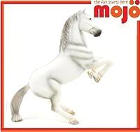 MOJO WHITE STALLION HORSE REPLICA FARM ANIMAL COLLECTABLE TOY FIGURES 387075 by Mojo Fun - Horses