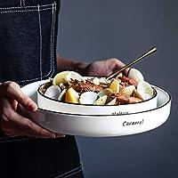 シンプルでスタイリッシュなラウンドセラミック食器 - ホームレストランステーキピザパスタスーププレート【1パック】 プレート (サイズ さいず : 25.8cm)