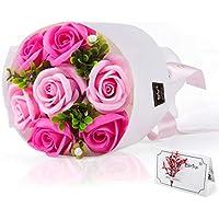 エレガントブーケ ソープフラワー ギフト 誕生日 プレゼント 女性 退職祝い 結婚祝い 花 発表会 花束 フラワー ブーケ 石けん あすつく対応