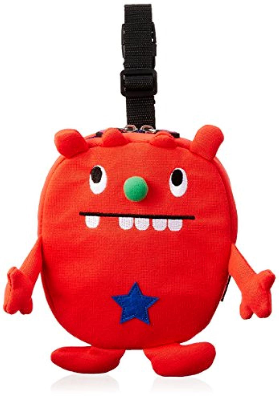 ニックナック Monster GRONK ツインマグポーチ Rosso レッド