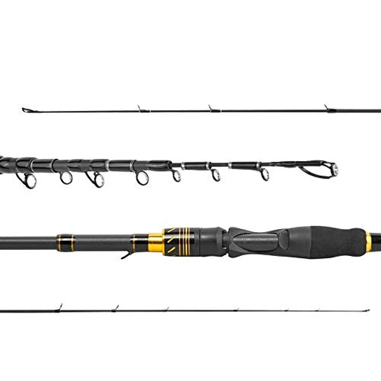 合併症縮れた口頭BTXXYJP 釣り竿 釣りロッド 耐久性 初心者 釣り 便利 伸縮可能 操作簡単 フィッシングロッド (Color : Straight Handle, Size : 2.1)