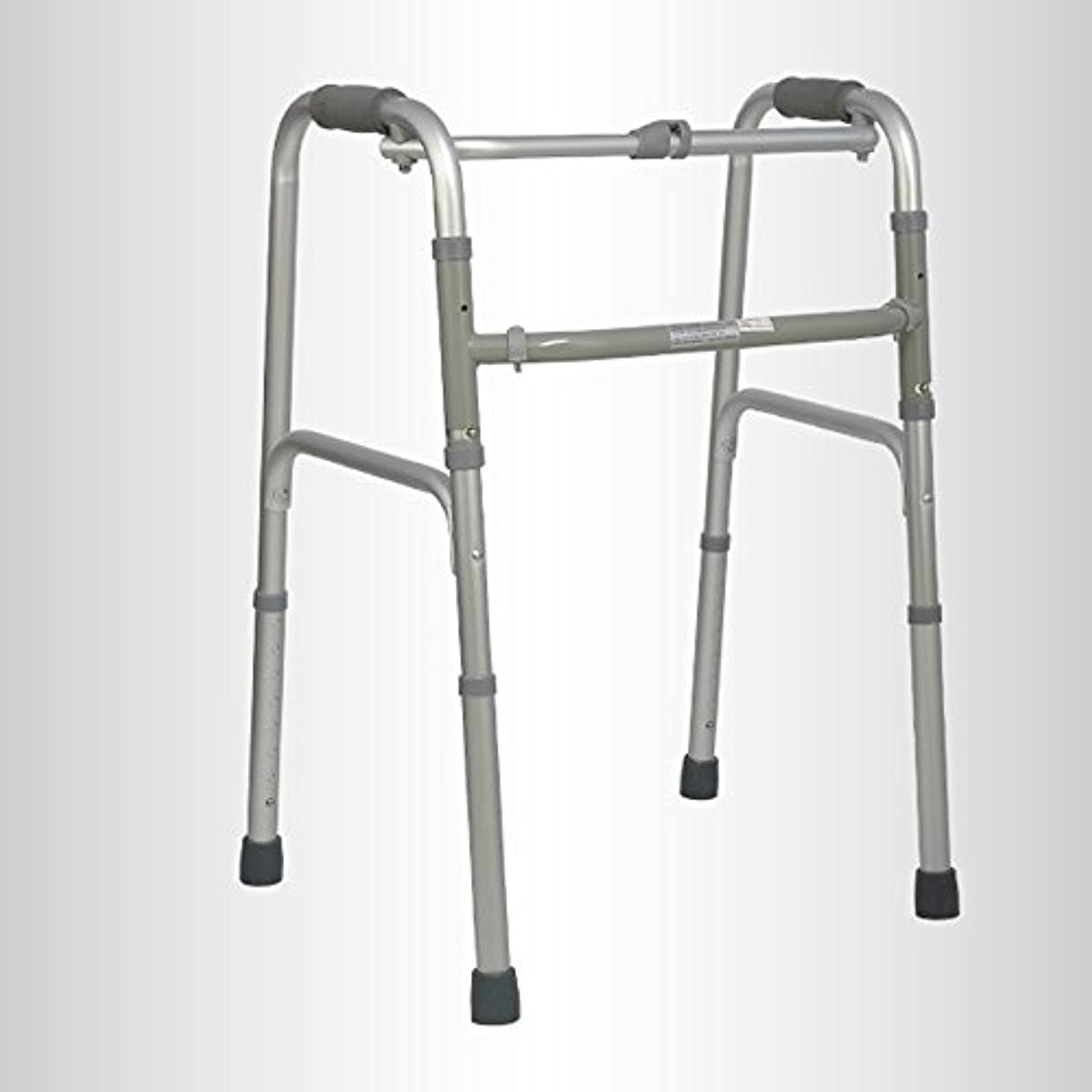 カレンダーフォルダ固めるQFFL 松葉杖高齢者アルミニウム松葉杖滑り止め無しポータブル折りたたみ四足松葉杖2色使用可能 松葉杖ウォーカー (色 : B)