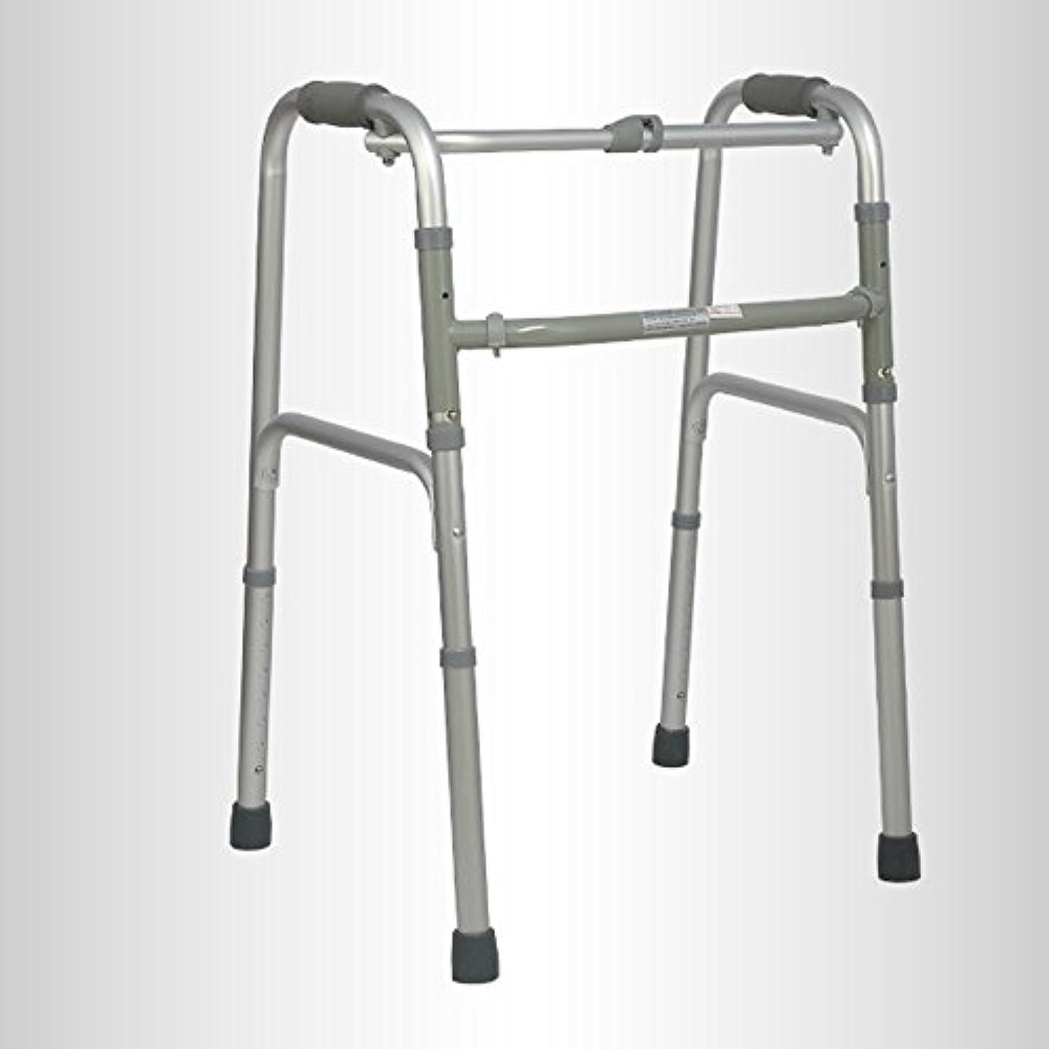 に変わる資金リア王QFFL 松葉杖高齢者アルミニウム松葉杖滑り止め無しポータブル折りたたみ四足松葉杖2色使用可能 松葉杖ウォーカー (色 : B)