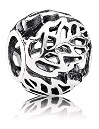 PANDORA Charms Sterling Silver Original Openwork Leaves Charm