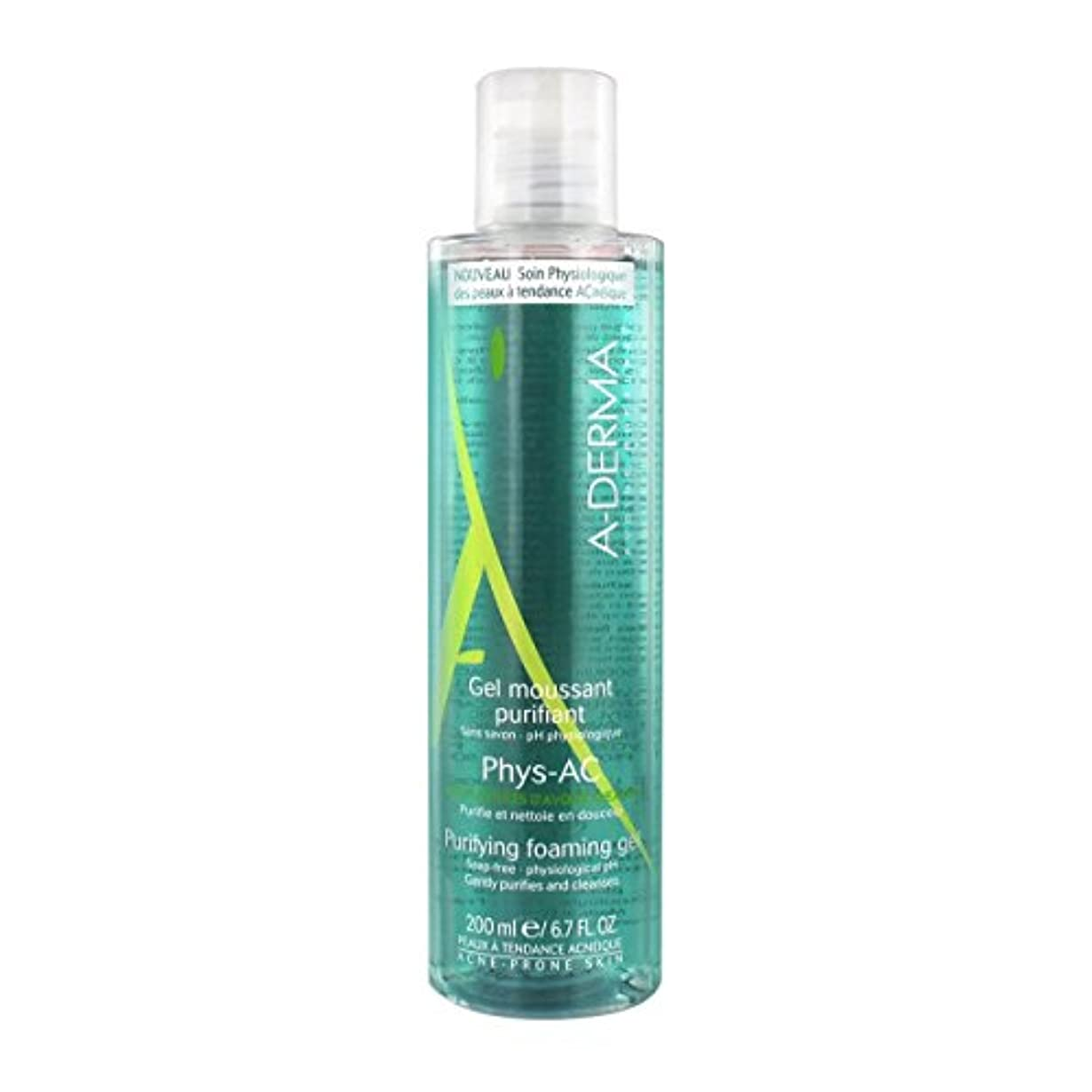 A-derma Phys-ac Purifying Foaming Gel 200ml [並行輸入品]