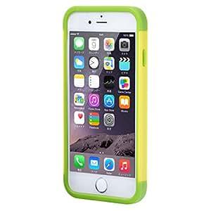 駅の改札やコンビニでピッ ICカードジャケット for iPhone 6 Plus(読み取りエラー防止シート同梱) (イエロー/グリーン)