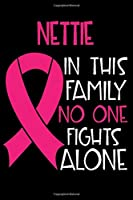 NETTIE In This Family No One Fights Alone: Personalized Name Notebook/Journal Gift For Women Fighting Breast Cancer. Cancer Survivor / Fighter Gift for the Warrior in your life | Writing Poetry, Diary, Gratitude, Daily or Dream Journal.