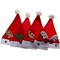 【ノーブランド品】4本 子供用 クリスマス コスチューム サンタ 帽子 サンタクロース 赤