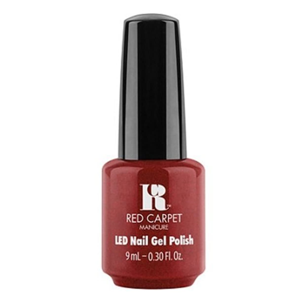 パン曲がった補充Red Carpet Manicure - LED Nail Gel Polish - Rapturous in Red - 0.3oz / 9ml