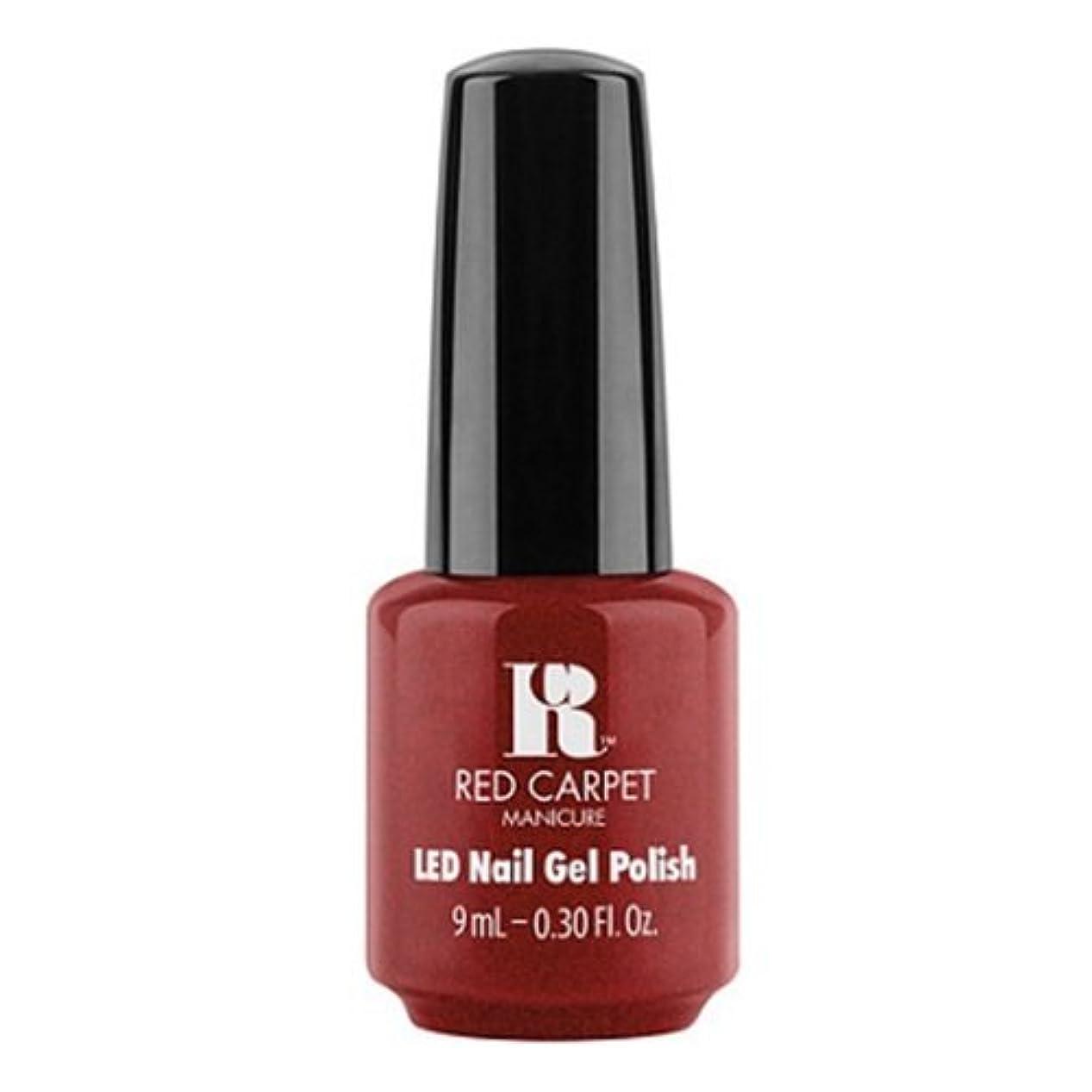 抵抗力がある破滅ライナーRed Carpet Manicure - LED Nail Gel Polish - Rapturous in Red - 0.3oz / 9ml