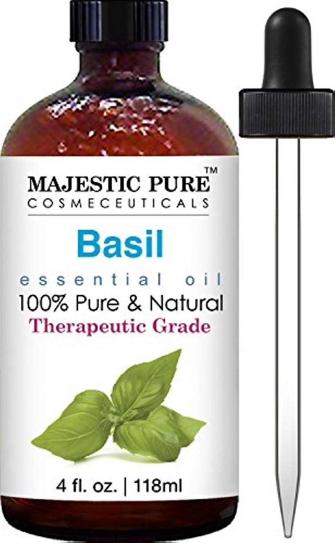 絶滅操作時刻表Basil Oil, Therapeutic Grade, Pure and Natural Basil Essential Oil, 4 fl. oz バジルオイル