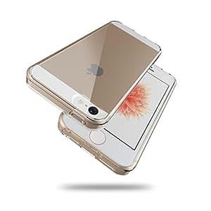 iPhone SE/5s/5 衝撃吸収 クリア ケース 透明 ハイブリッド 硬度6H クリスタル カバー HYB-5SE-CLR699