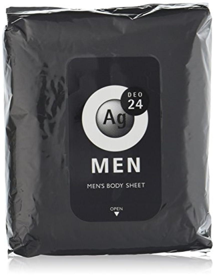 パット原理透過性エージーデオ24 メンズ ボディーシート 無香性 30枚