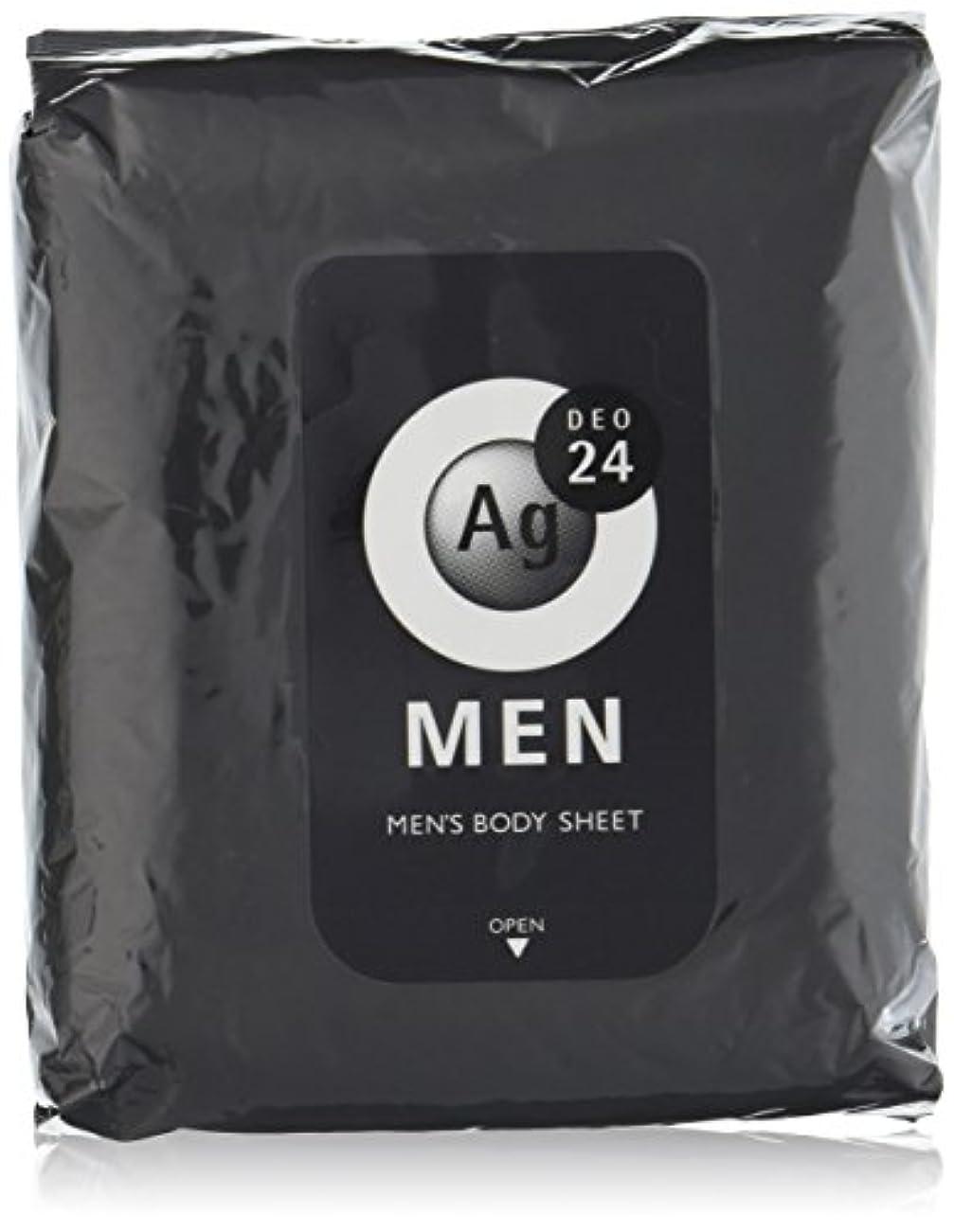 セレナ空白滑るエージーデオ24 メンズ ボディーシート 無香性 30枚