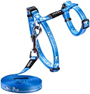 Rogz Sparklecat Harness & Lead Set Turq