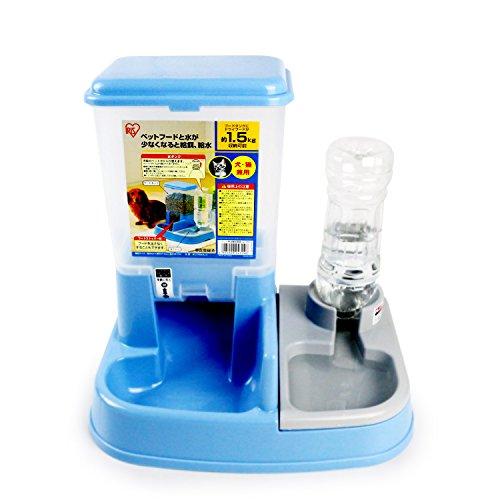 アイリスオーヤマ ペット用自動給餌器 ライトブルー JQ-350