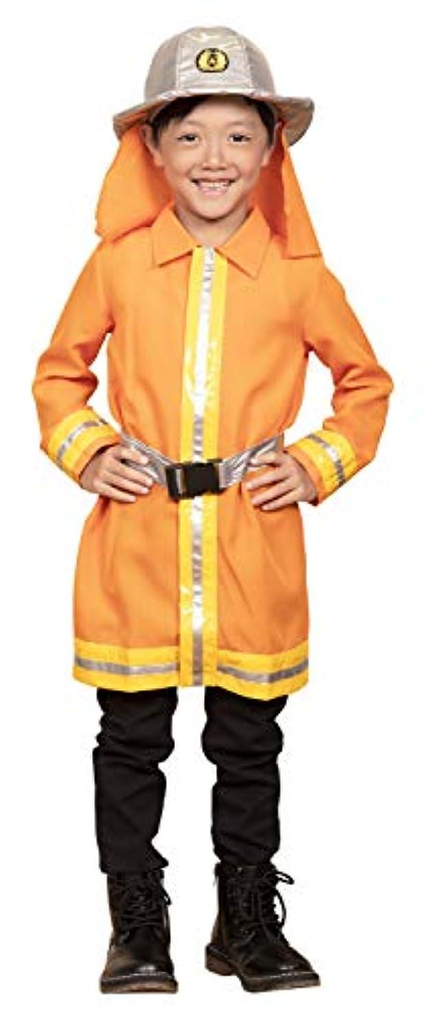 労苦性能マーチャンダイザーキッズジョブ 消防士 キッズコスチューム 男女共用 120cm