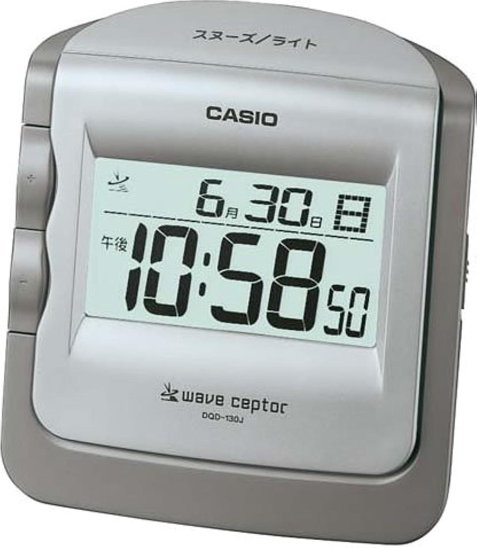 CASIO (カシオ) 目覚し時計 WAVE CEPTOR ウェーブセプター デジタル 電波時計 (福島?九州両局対応) カレンダー表示 DQD-130J-8JF