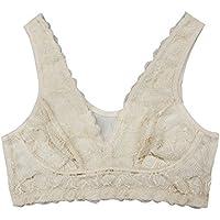 Farlenoyar Women 100% Silk Lace Bra Healthy Underwear Body Smooth Sport Yoga Bra