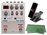 BOSS ボス - エフェクター/デジタルディレイ DD-200 + KORG Pitchclip 2 PC-2 + マークスオリジナルクロス セット