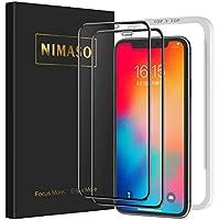 【2枚セット】Nimaso iPhone11 Pro/iPhoneX/Xs(5.8インチ)用 全面保護フィルム 液晶強化ガラス 【フルカバー】【ガイド枠付き】【日本製素材旭硝子製】( アイフォン11 Pro/X/Xs用)