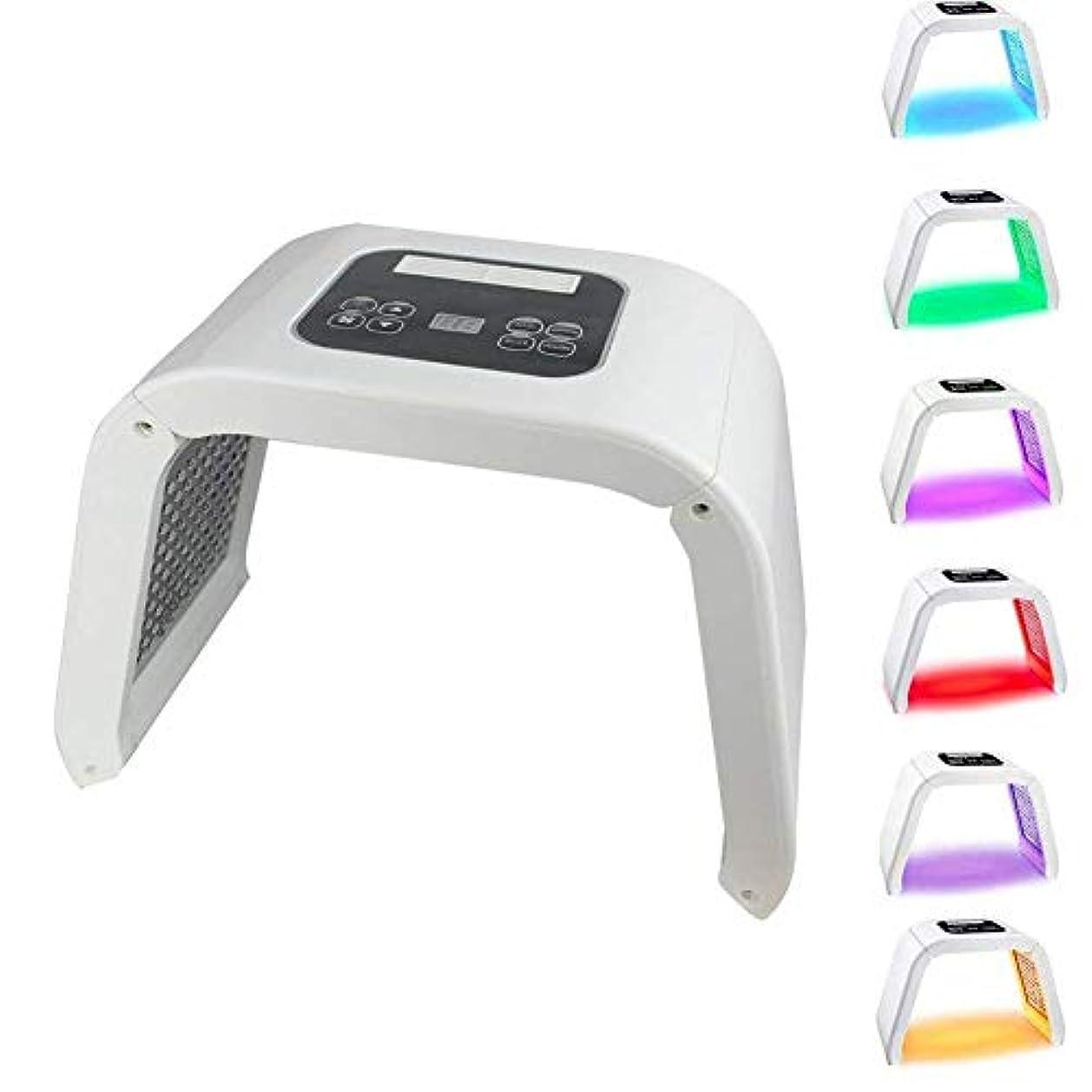 リハーサル薬理学準備する7色はライトPDT美容機をマスクLED、肌の若返りLED機器スキンはホームサロン使うスキンケアのツールでは、顔のしわ除去アンチエイジングフェイシャルケア美容機を締め
