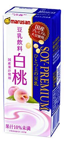 マルサン ひとつ上の豆乳 豆乳飲料 白桃 200ml ×24本