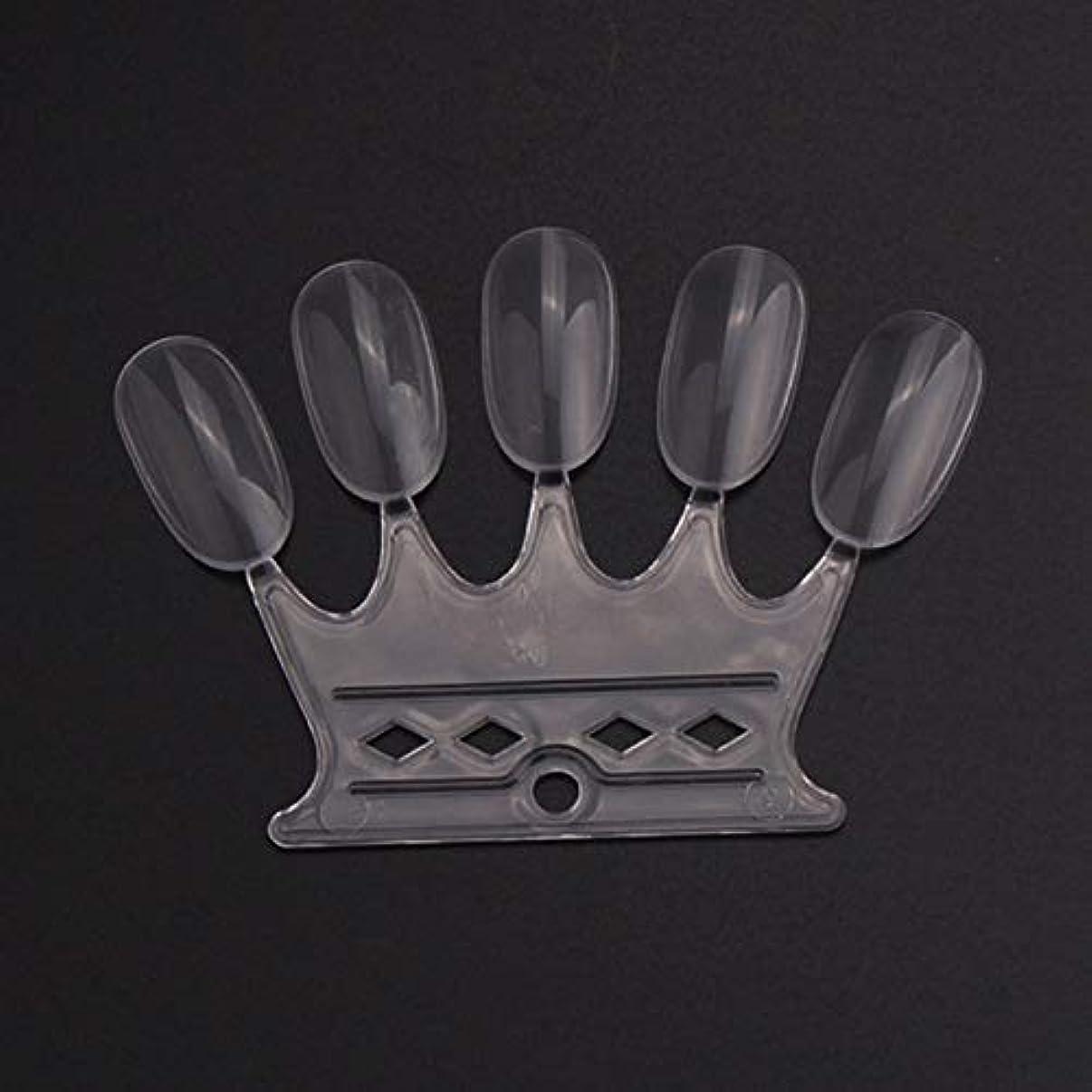 みなすかわいらしいデッドロックOU-Kunmlef 満足している10 pcsセット偽の爪のヒントカラーカードのネイルアートの練習表示ツール(None 10)