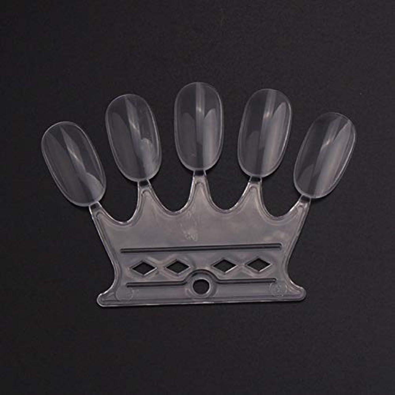 デッド正午領事館OU-Kunmlef 満足している10 pcsセット偽の爪のヒントカラーカードのネイルアートの練習表示ツール(None 10)