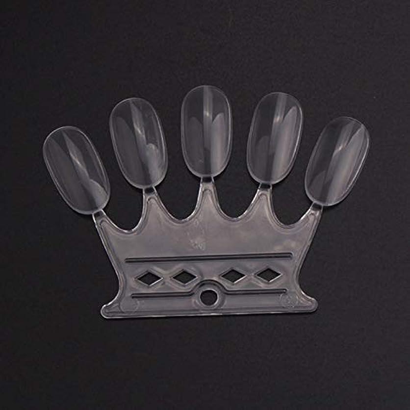 汚物ロンドン良心的OU-Kunmlef 満足している10 pcsセット偽の爪のヒントカラーカードのネイルアートの練習表示ツール(None 10)