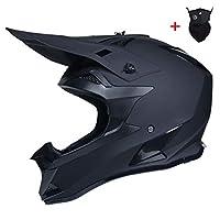 オフロードモトクロスヘルメットユースストリートダートバイクフルフェイスオートバイヘルメット承認された男性女性,Black/7a,XLarge