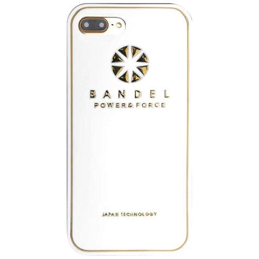 わずらわしい欲求不満シャーロックホームズバンデル(BANDEL) iPhone7Plusケース ロゴ ホワイト×ゴールド [iPhone7Plus用シリコンケース]